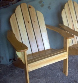 Hand Made Double Adirondack Chair. Made From Cypress For Long Lasting  Outdoor Use. Ready For Your Own Stain Or Paint