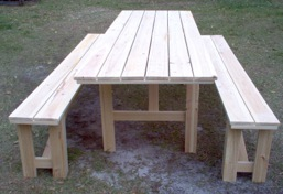 Products - Pressure treated wood picnic table